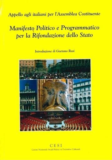 manifesto politico e programmatico