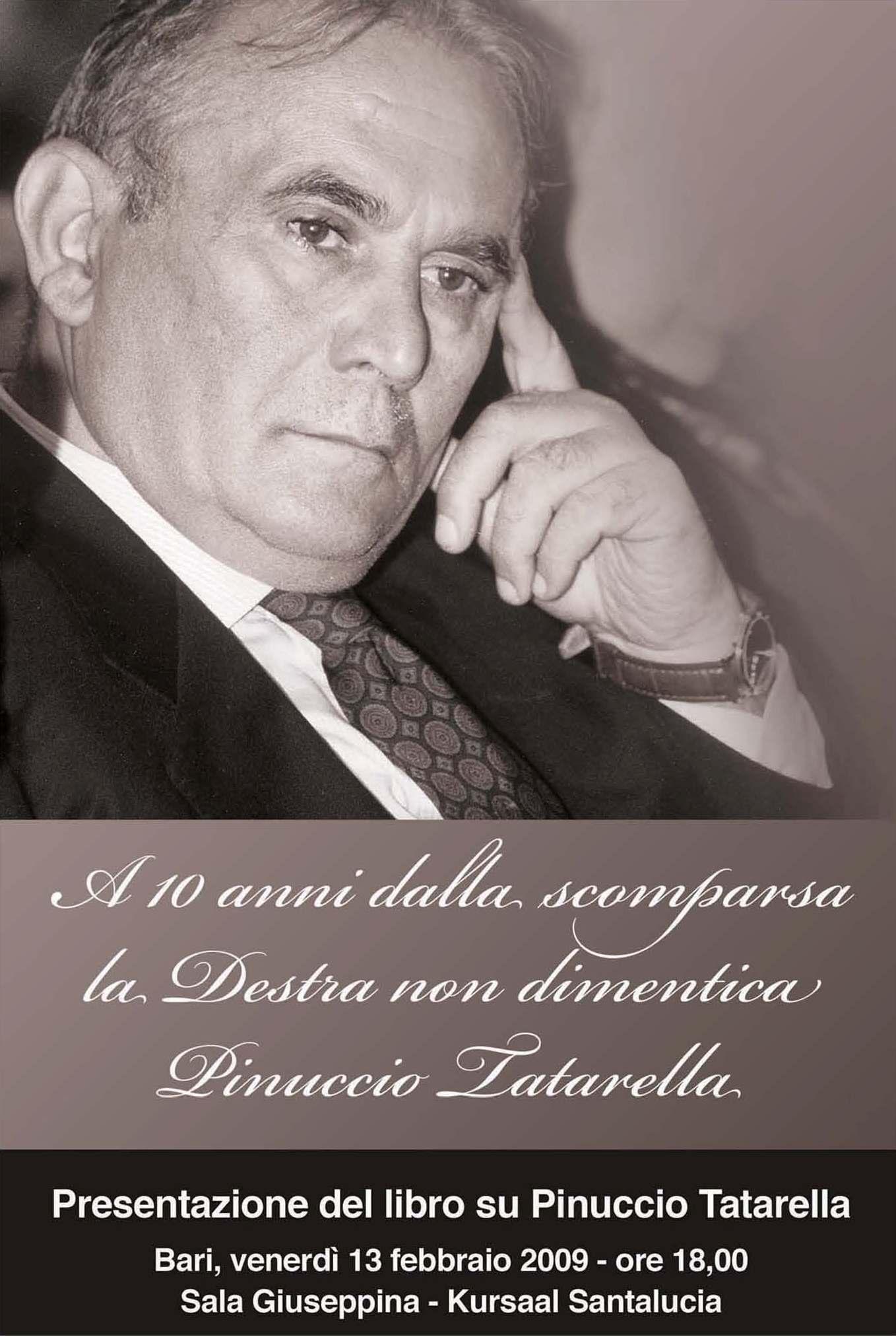 La destra non dimentica Pinuccio Tatarella